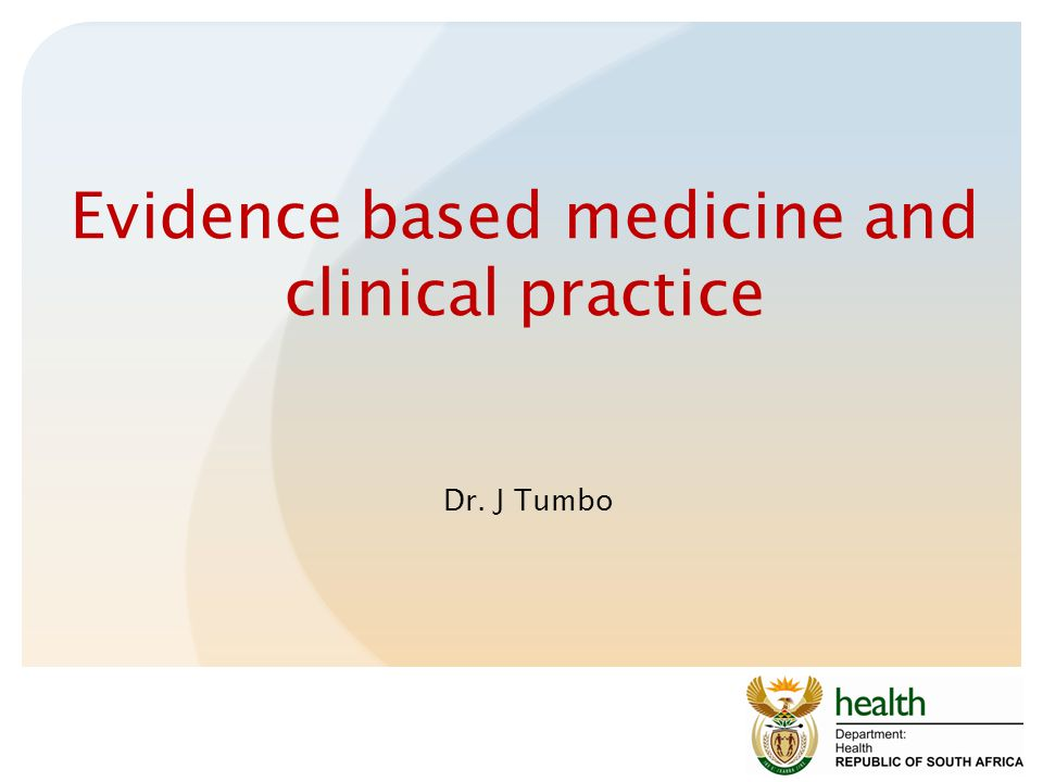 Evidence based medicine and clinical practice