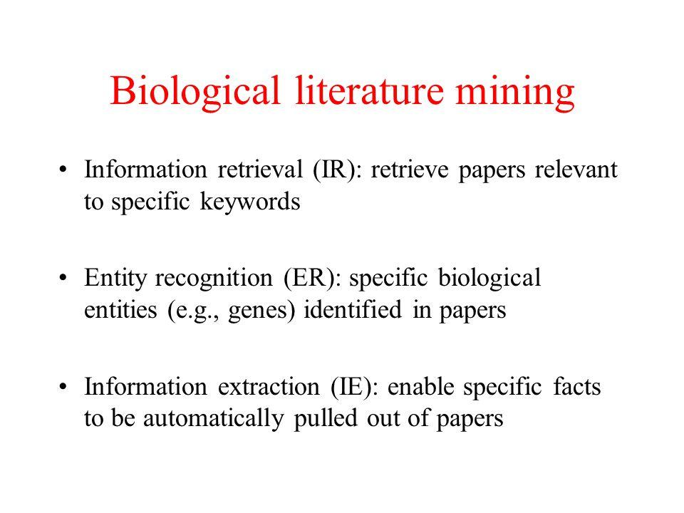 Biological literature mining
