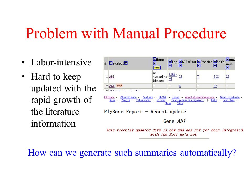 Problem with Manual Procedure
