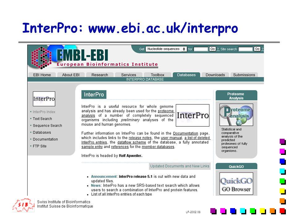 InterPro: www.ebi.ac.uk/interpro
