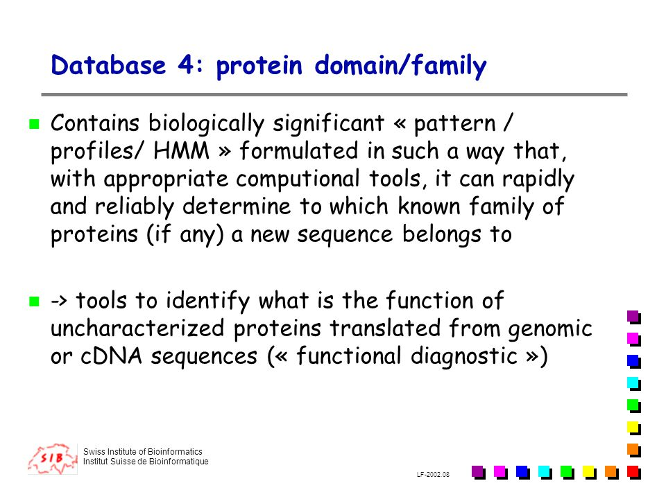 Database 4: protein domain/family