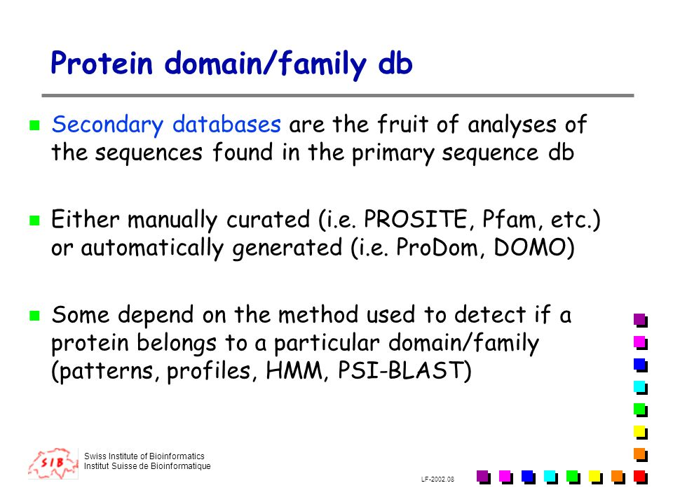 Protein domain/family db
