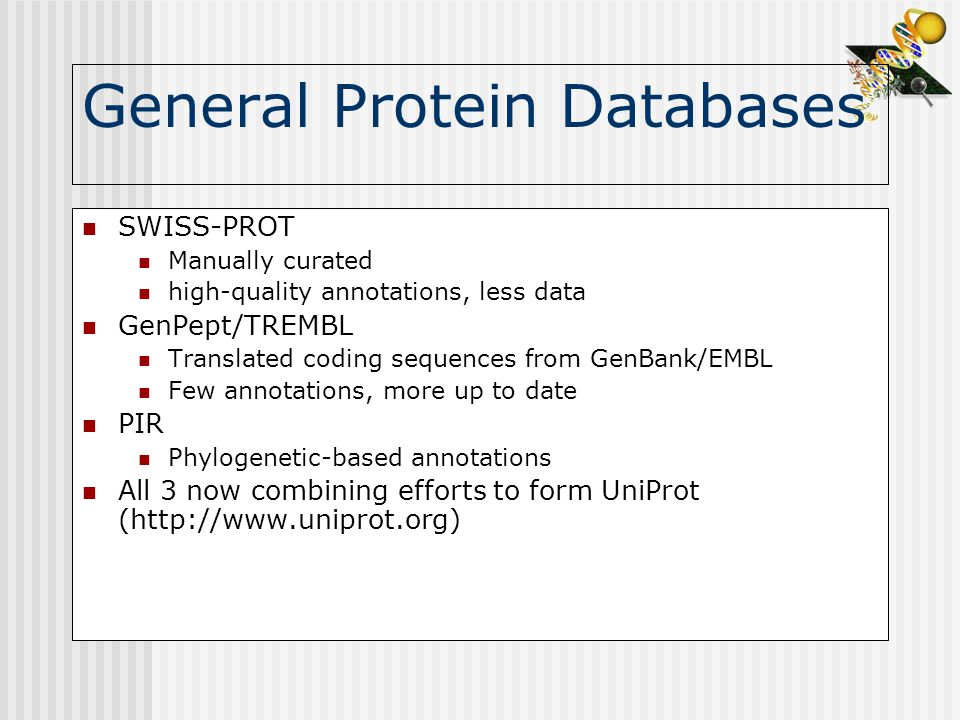 General Protein Databases
