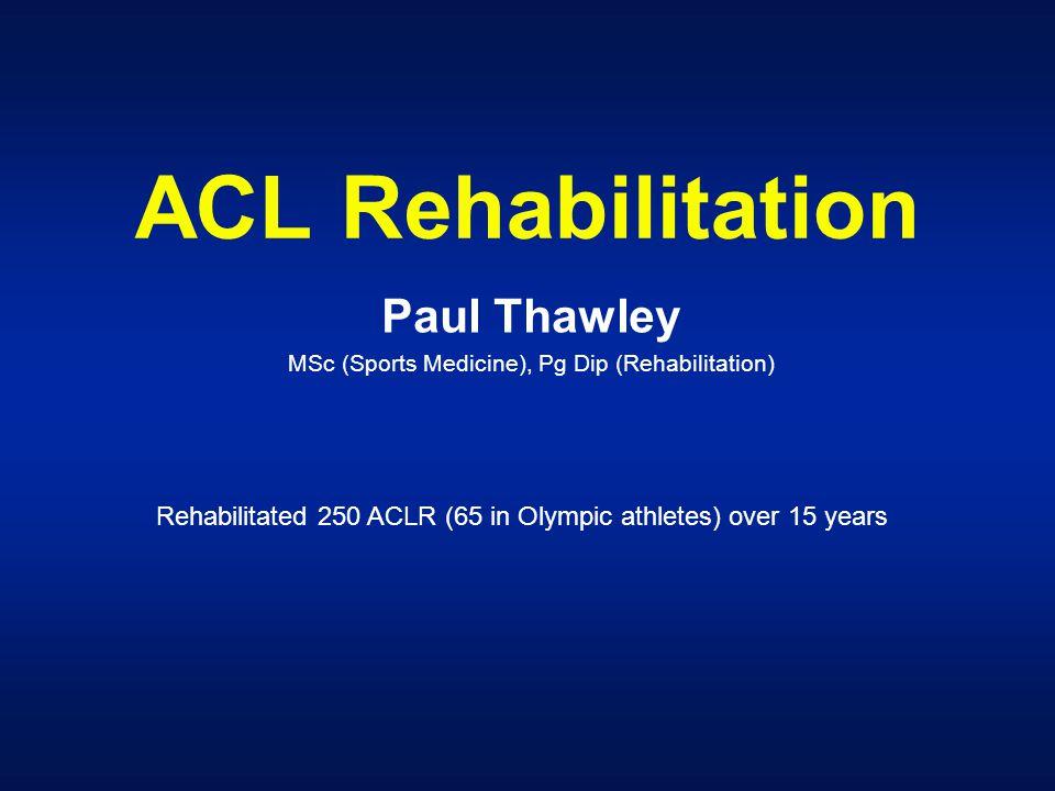 Paul Thawley MSc (Sports Medicine), Pg Dip (Rehabilitation)