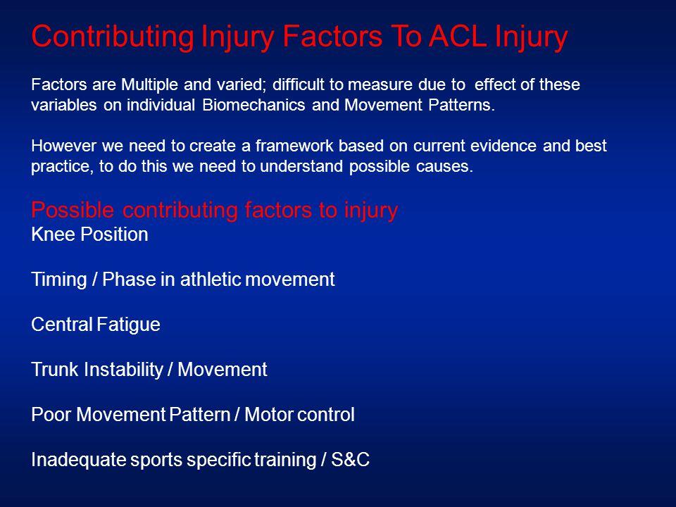 Contributing Injury Factors To ACL Injury