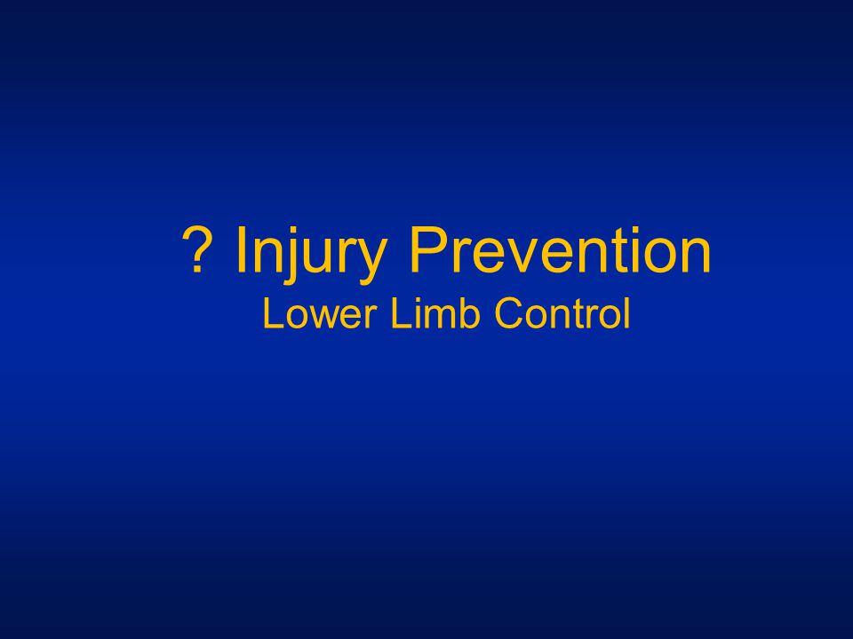 Injury Prevention Lower Limb Control