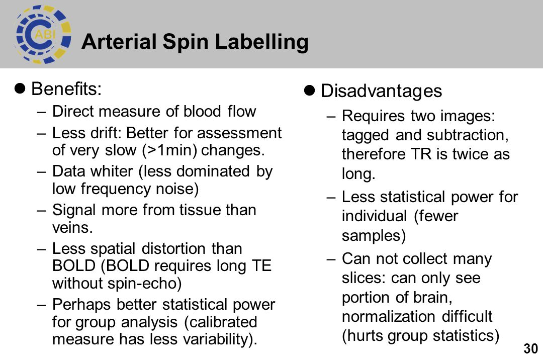 Arterial Spin Labelling