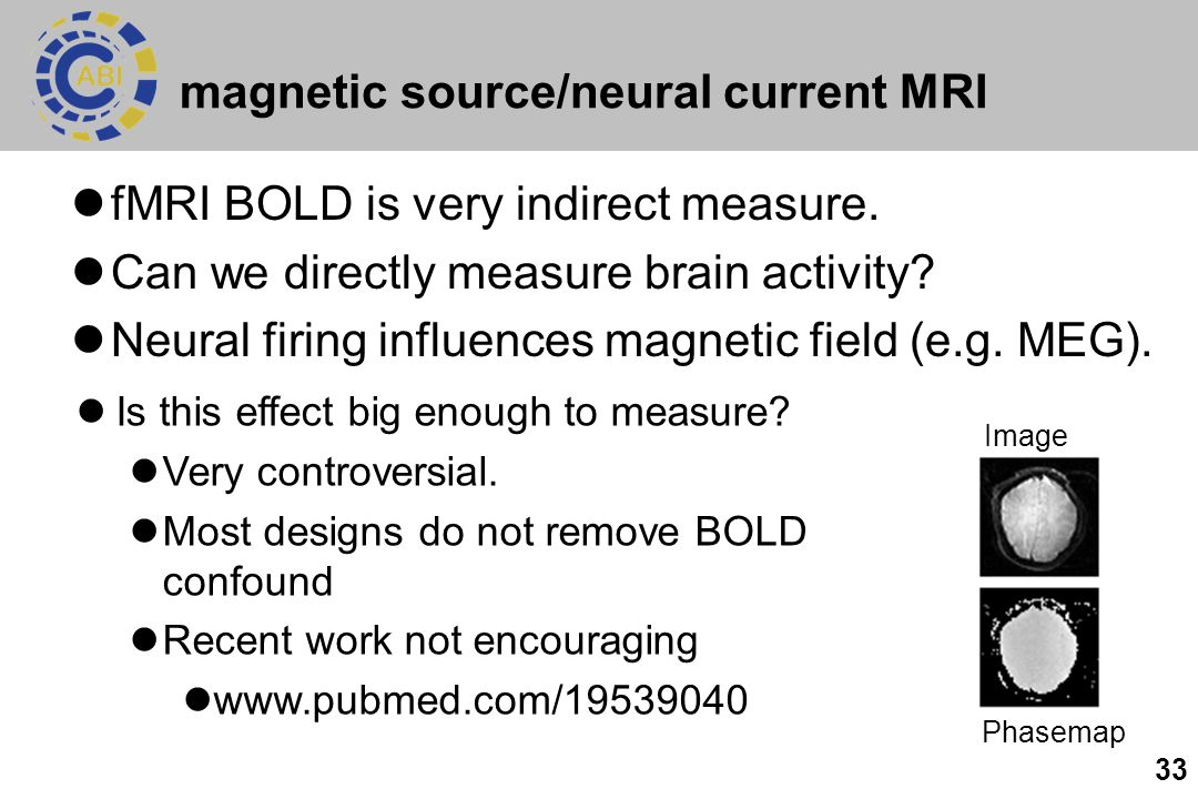 magnetic source/neural current MRI