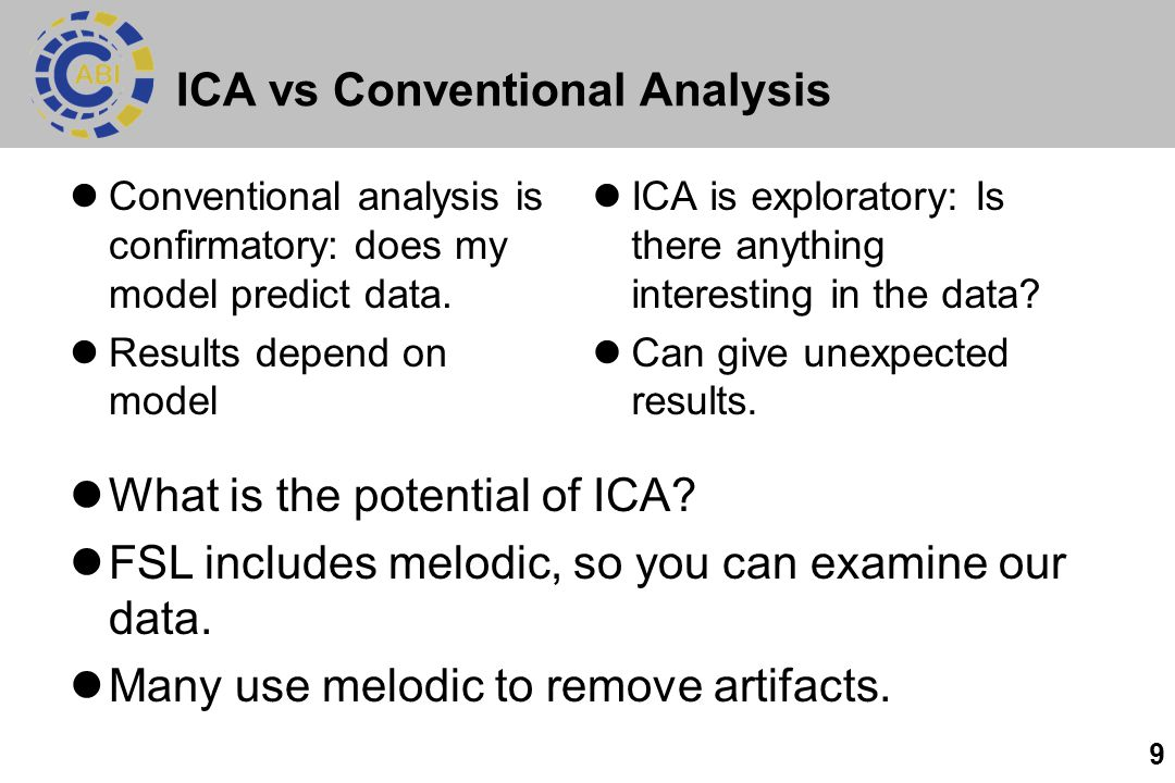 ICA vs Conventional Analysis