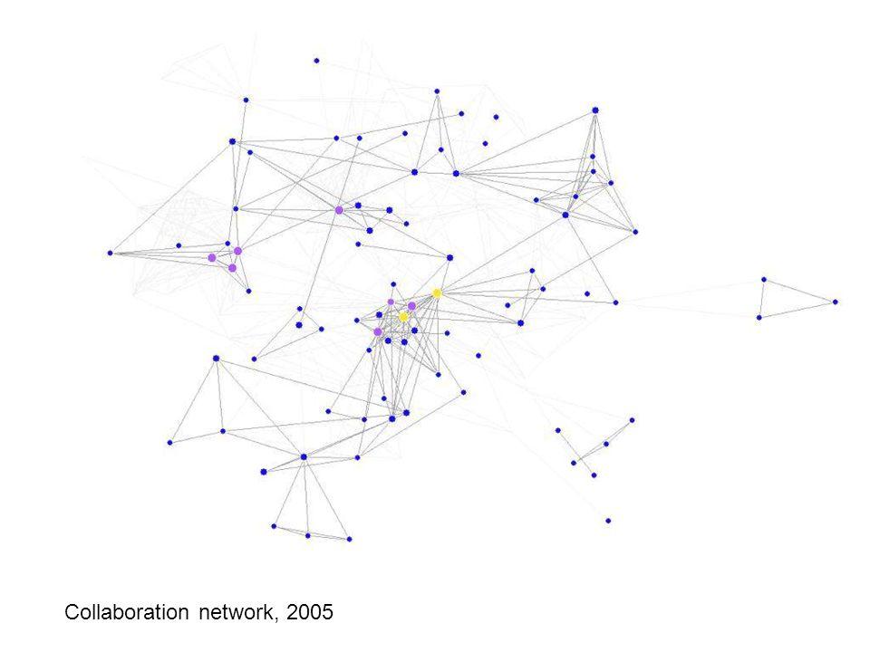 Collaboration network: 2005