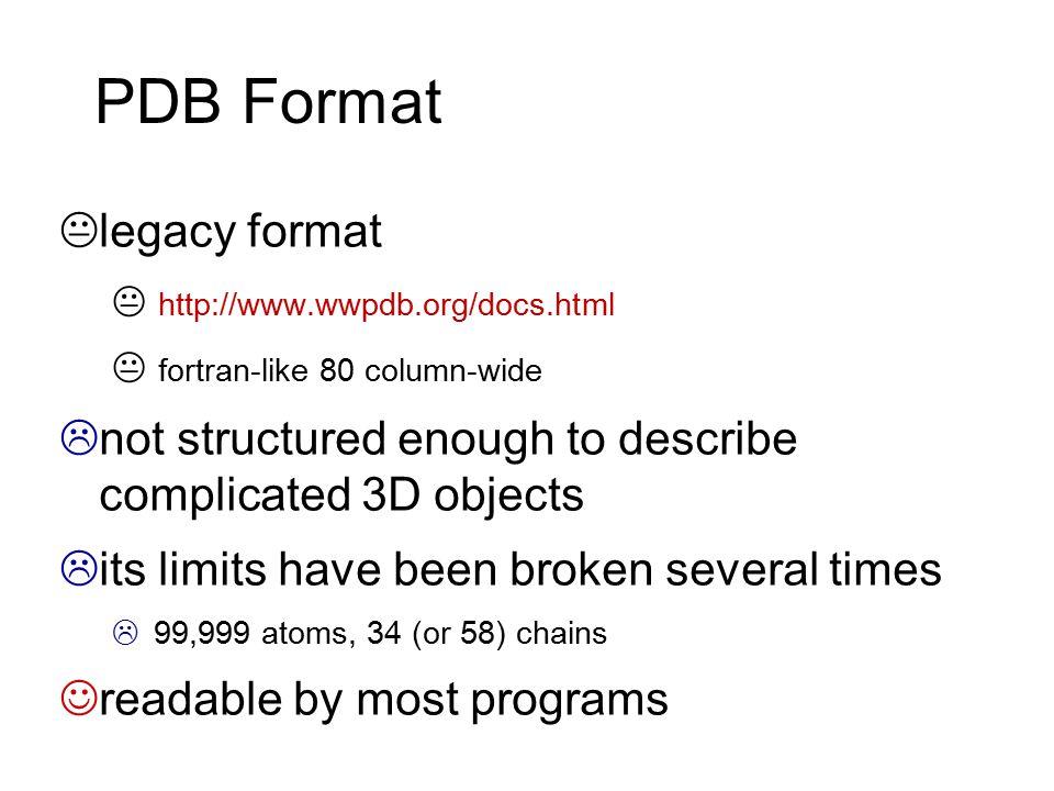 PDB Format legacy format