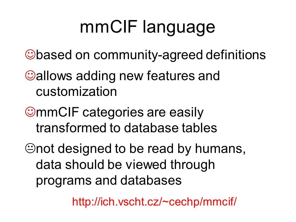 mmCIF language based on community-agreed definitions