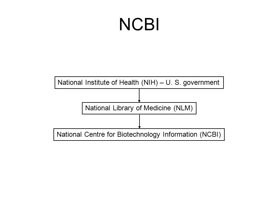 NCBI National Institute of Health (NIH) – U. S. government