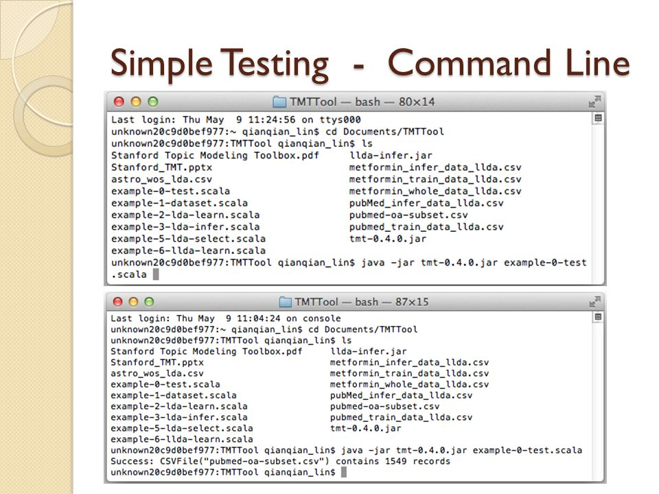 Simple Testing - Command Line