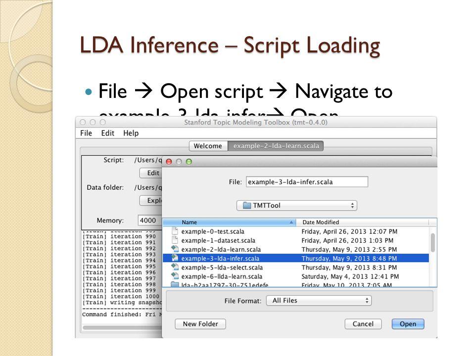 LDA Inference – Script Loading
