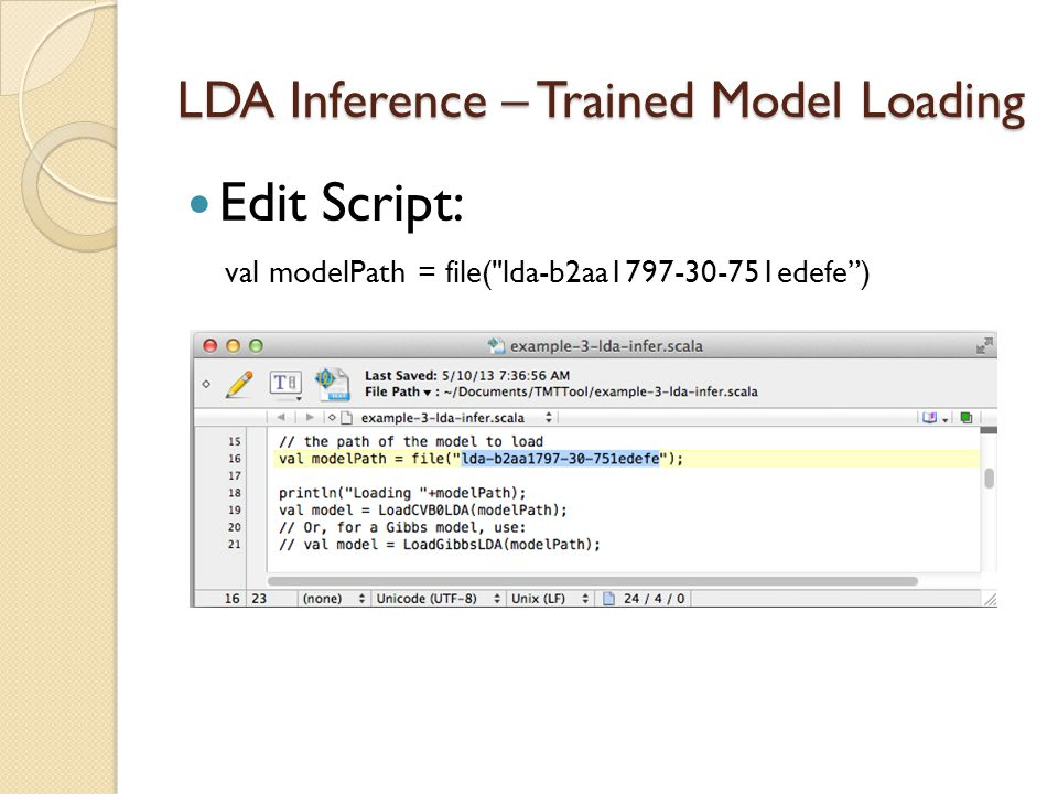 LDA Inference – Trained Model Loading