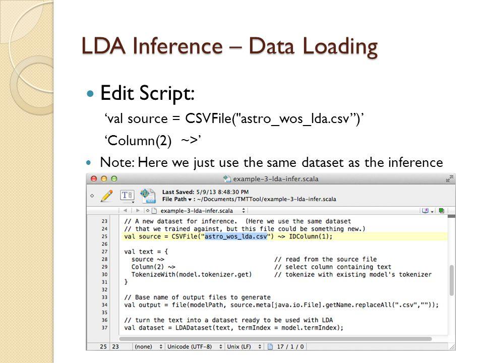 LDA Inference – Data Loading