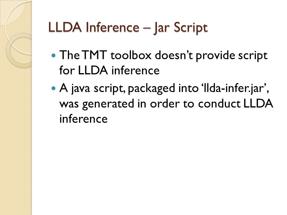 LLDA Inference – Jar Script