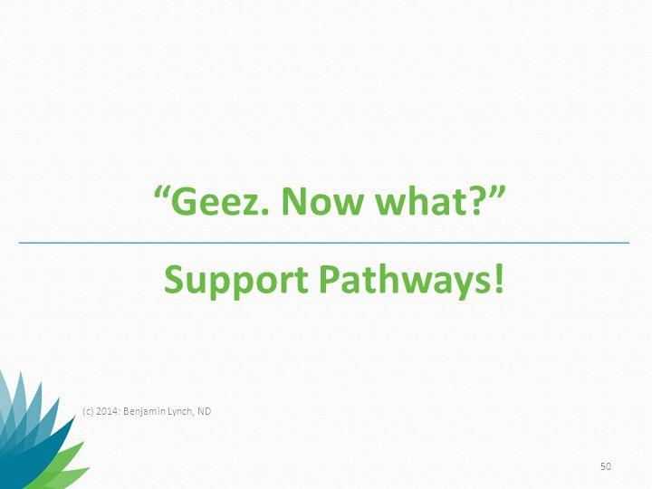 Geez. Now what Support Pathways! (c) 2014: Benjamin Lynch, ND