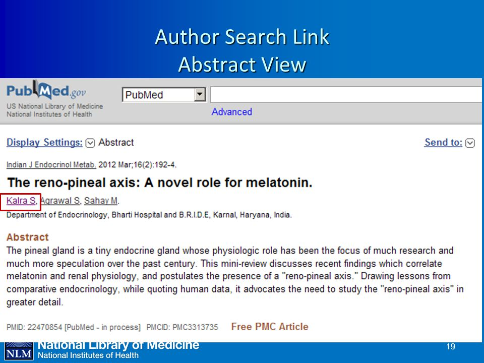 Author Search Link Abstract View