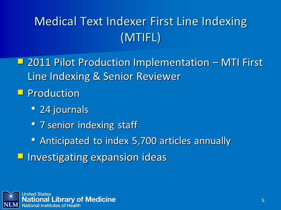 Medical Text Indexer First Line Indexing (MTIFL)
