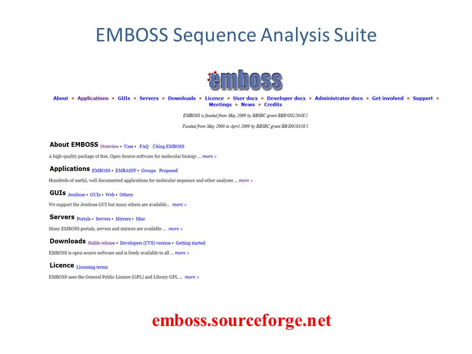 EMBOSS Sequence Analysis Suite