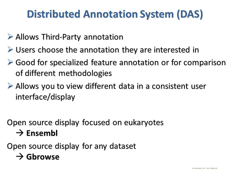 Distributed Annotation System (DAS)