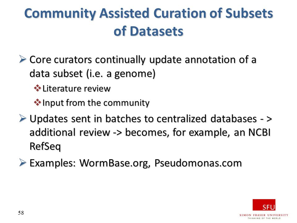 Community Assisted Curation of Subsets of Datasets