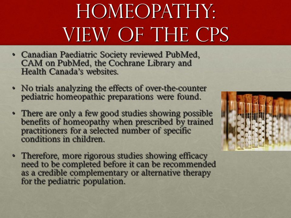 Homeopathy: View of the CPS