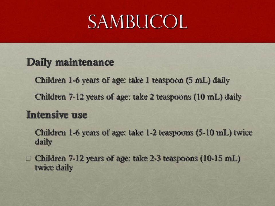 Sambucol Daily maintenance Intensive use