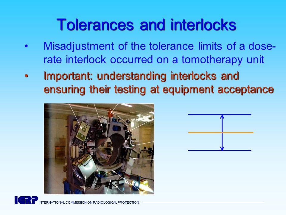 Tolerances and interlocks