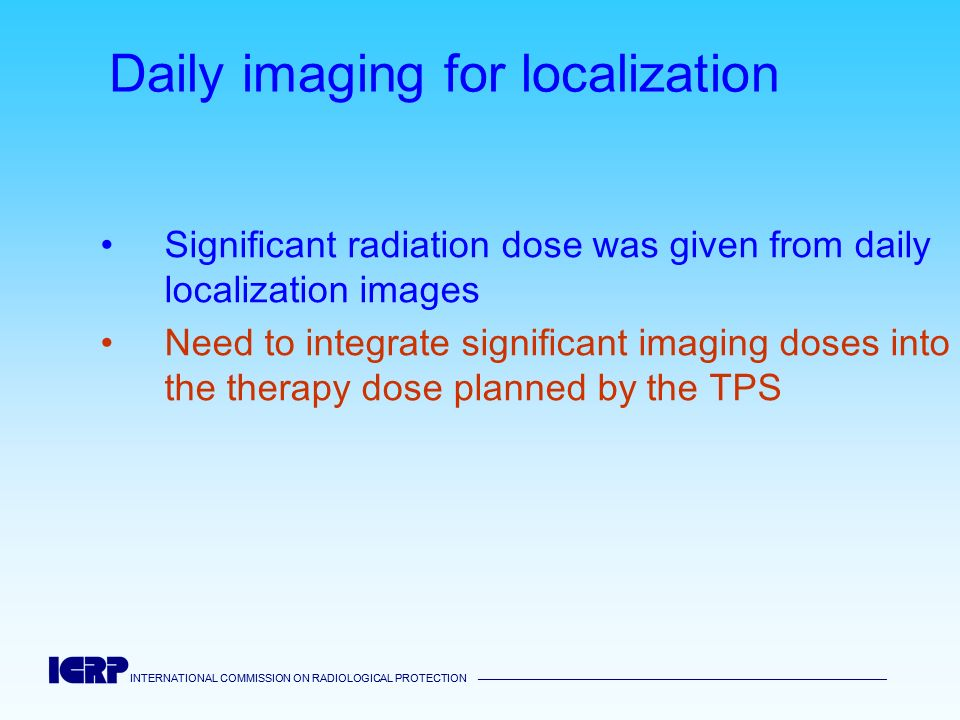 Daily imaging for localization