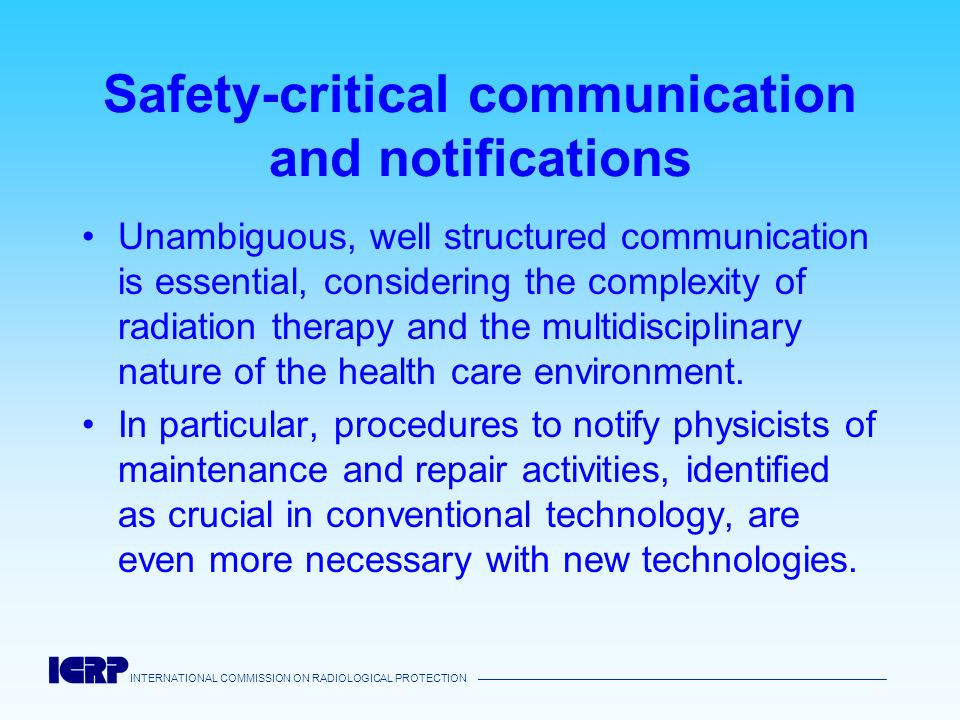 Safety-critical communication and notifications