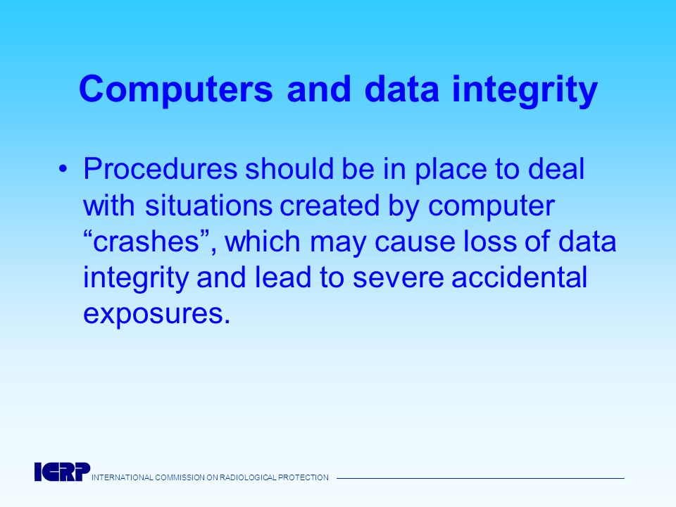 Computers and data integrity