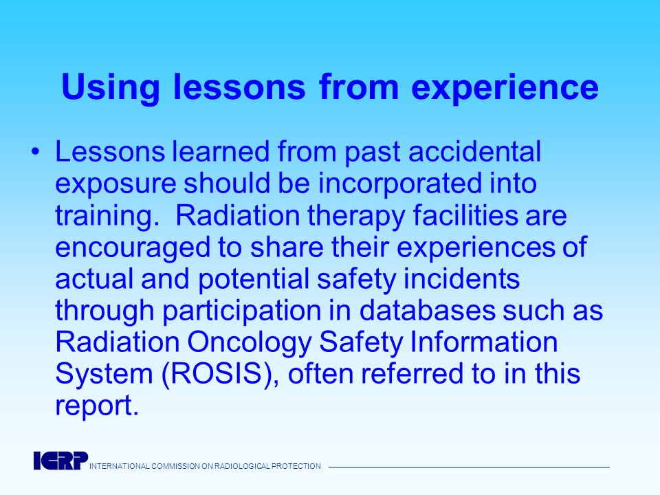 Using lessons from experience