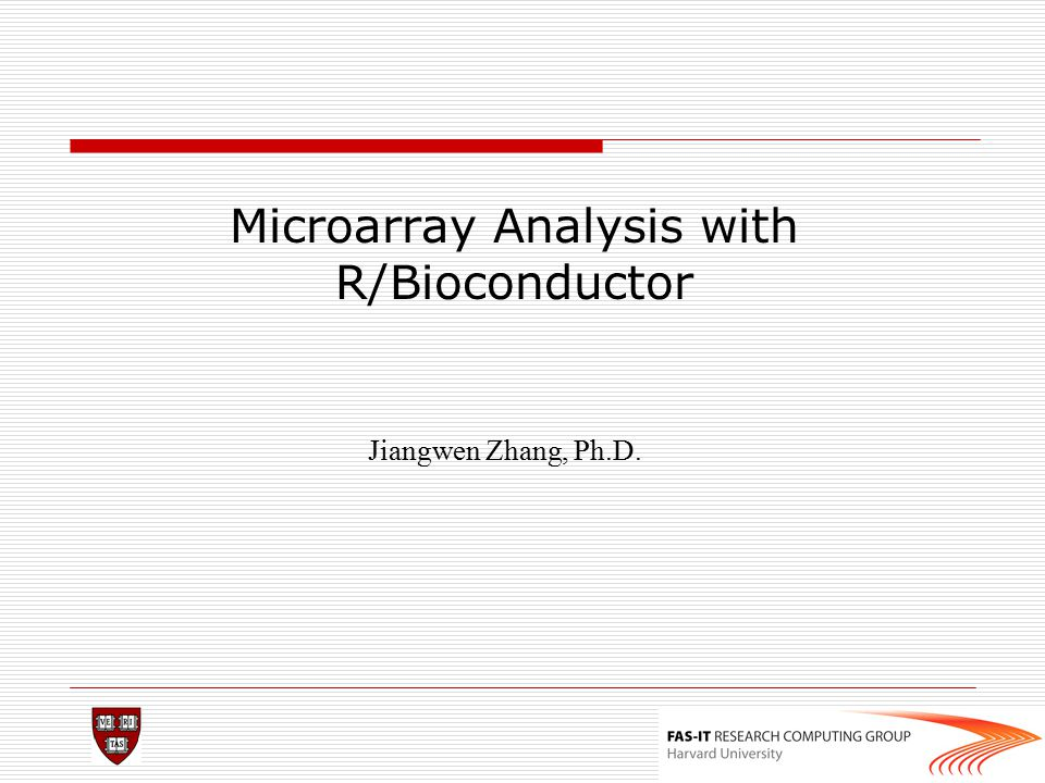 Microarray Analysis with R/Bioconductor