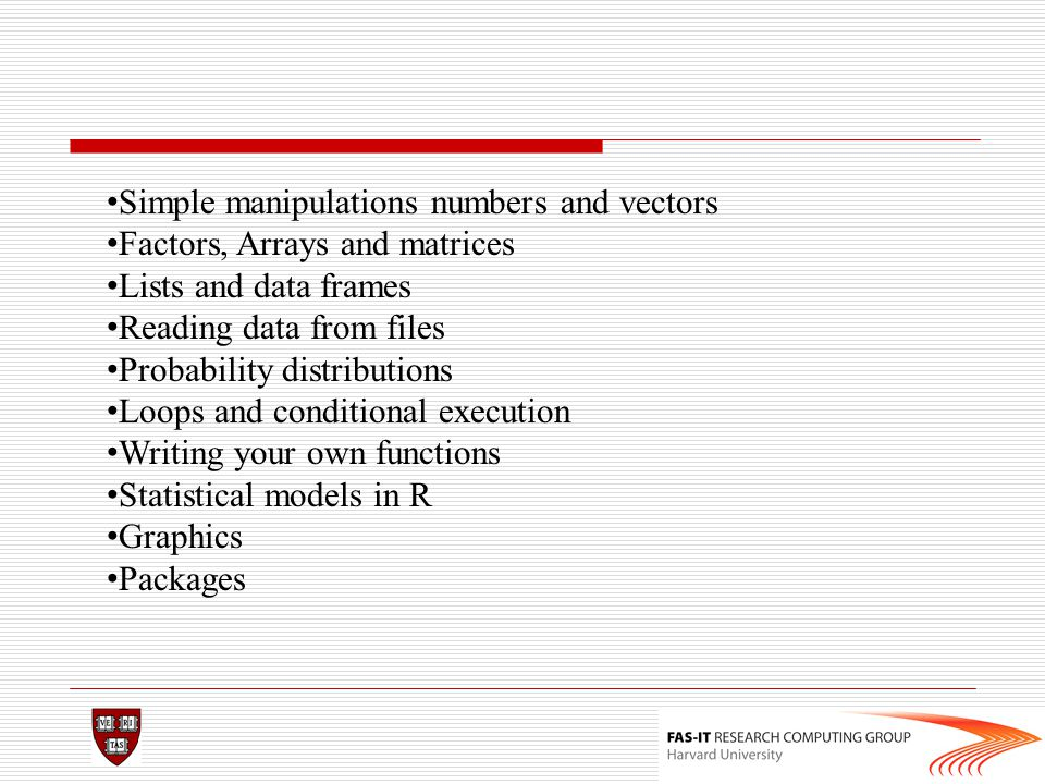 Simple manipulations numbers and vectors