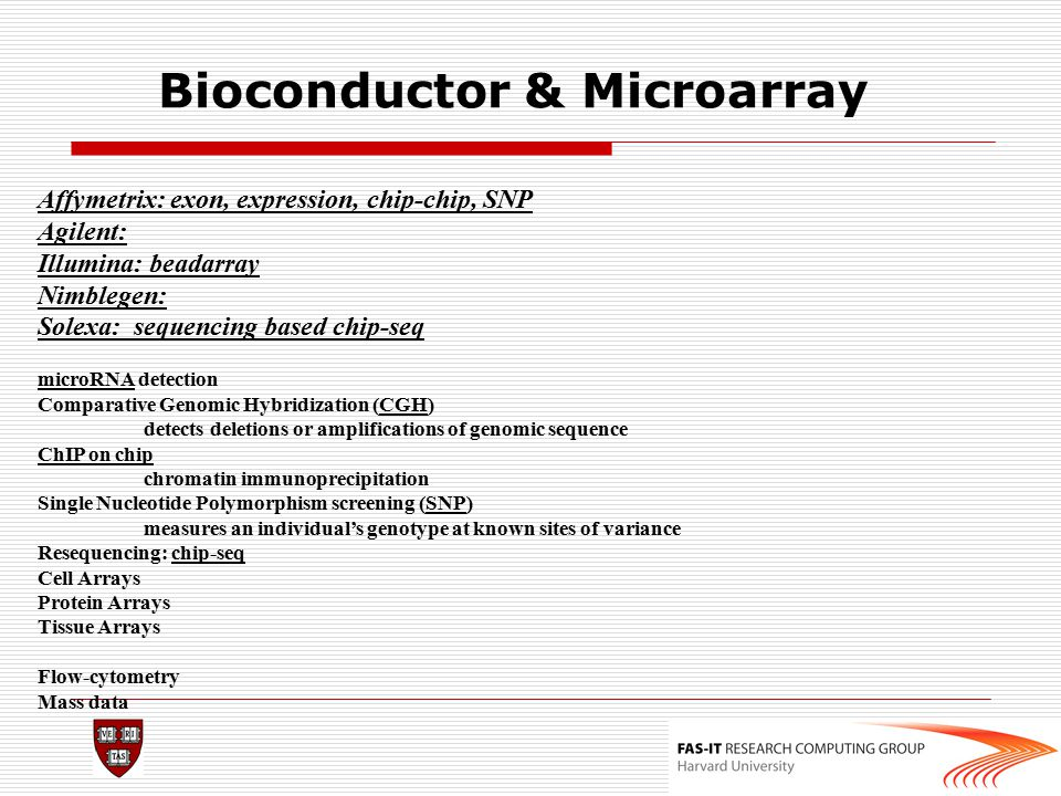 Bioconductor & Microarray