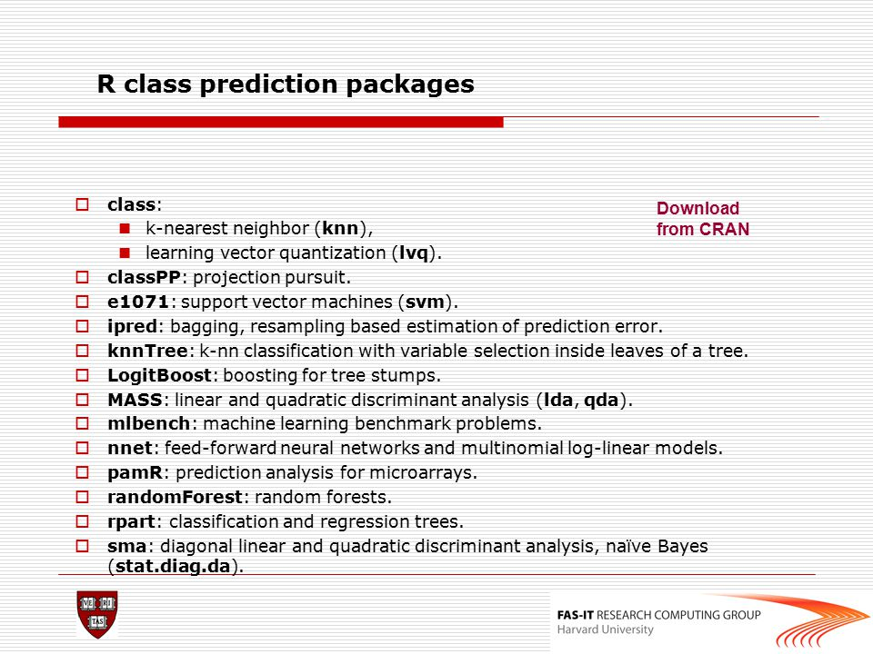 R class prediction packages