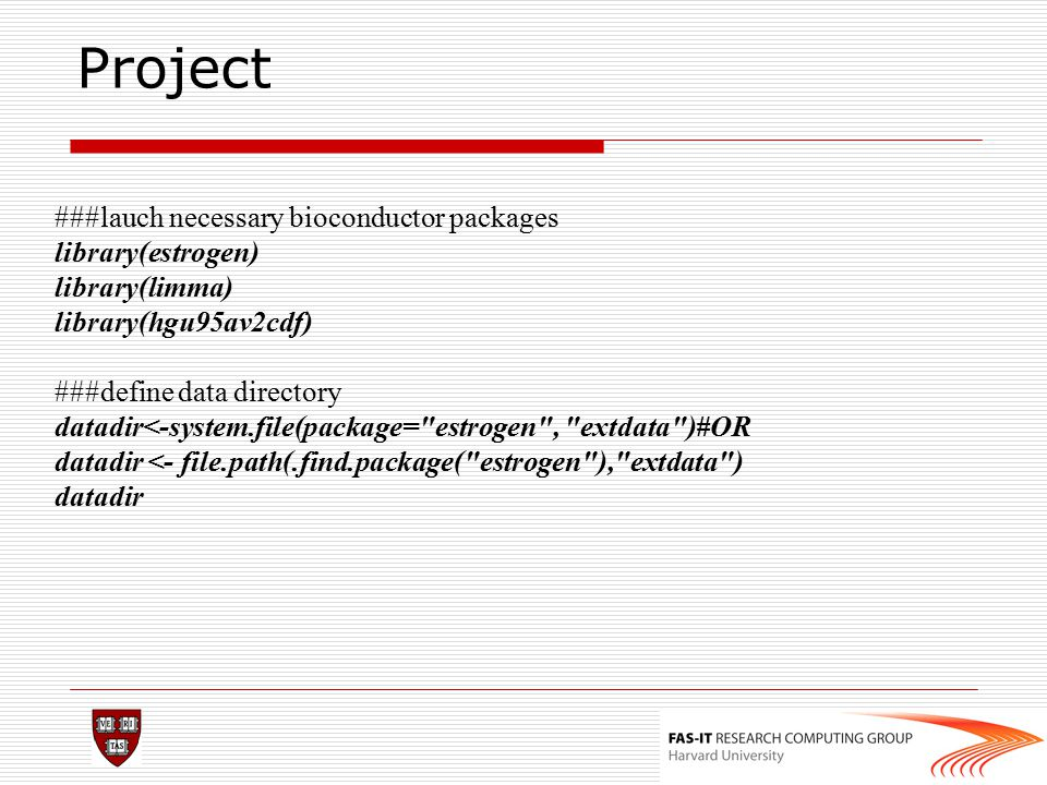 Project ###lauch necessary bioconductor packages library(estrogen)