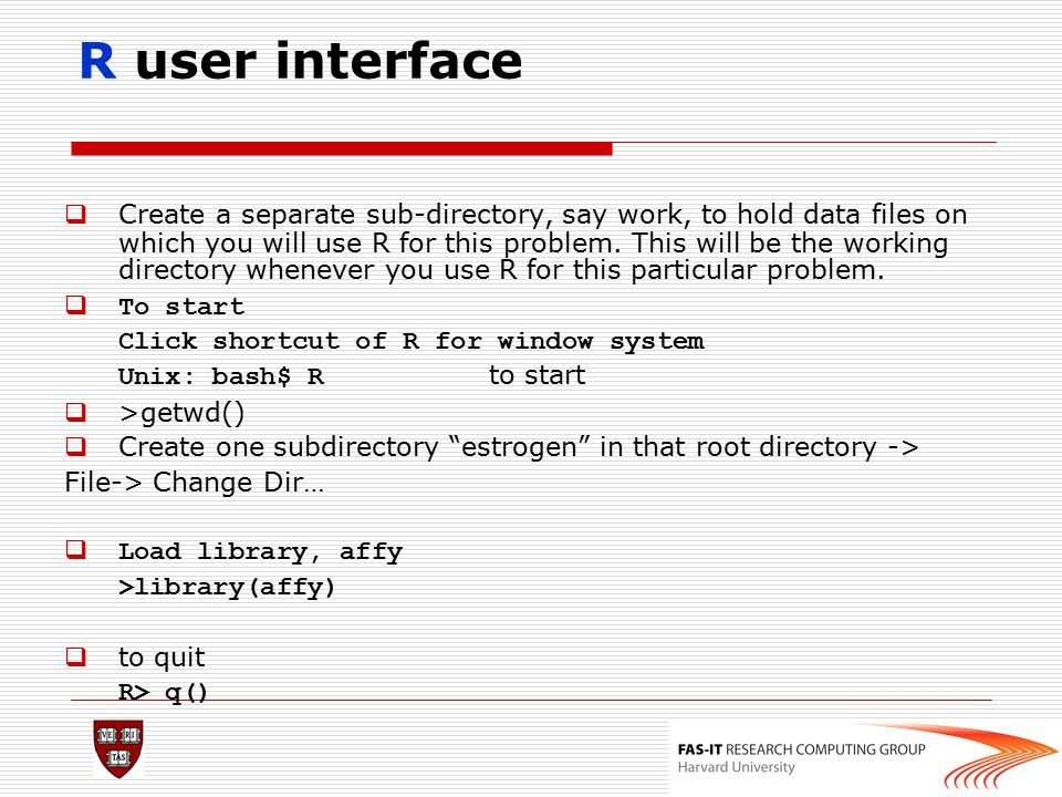 R user interface