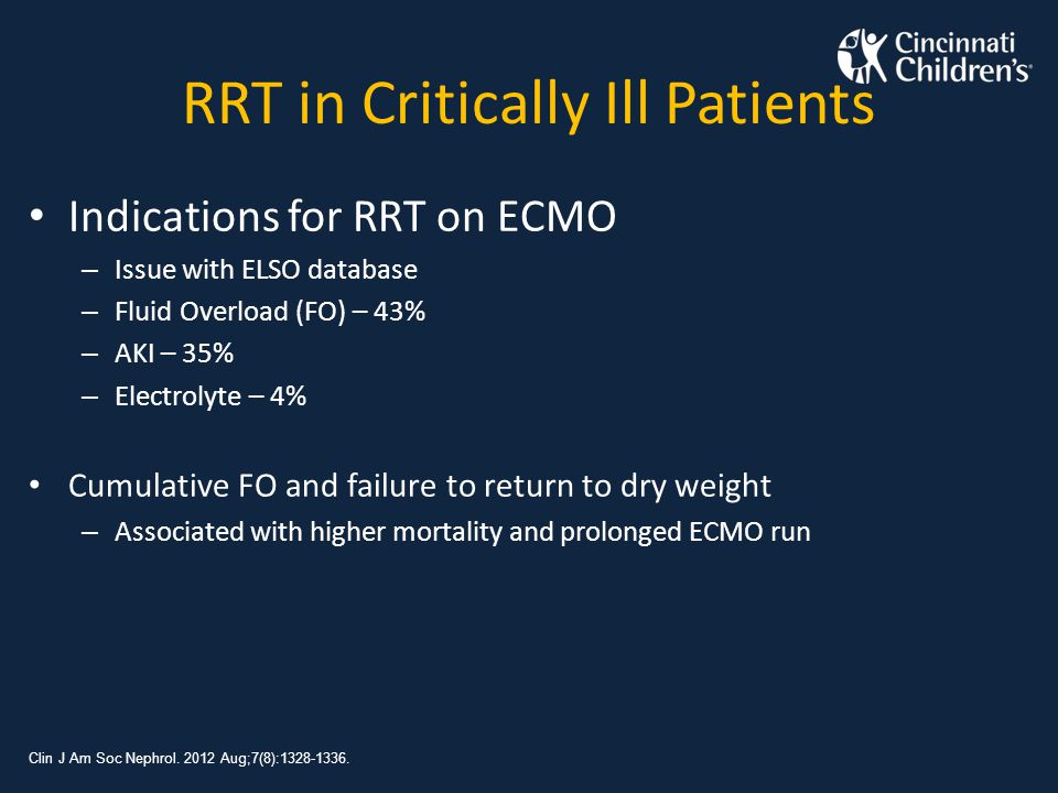 RRT in Critically Ill Patients