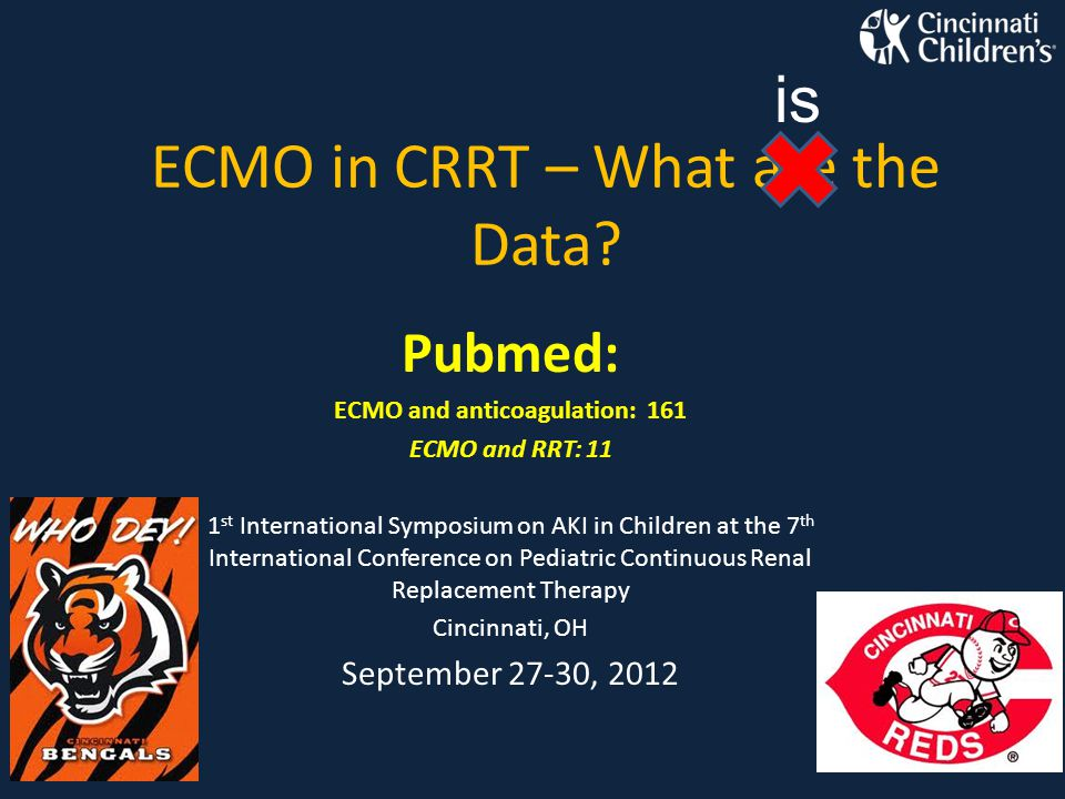 ECMO in CRRT – What are the Data