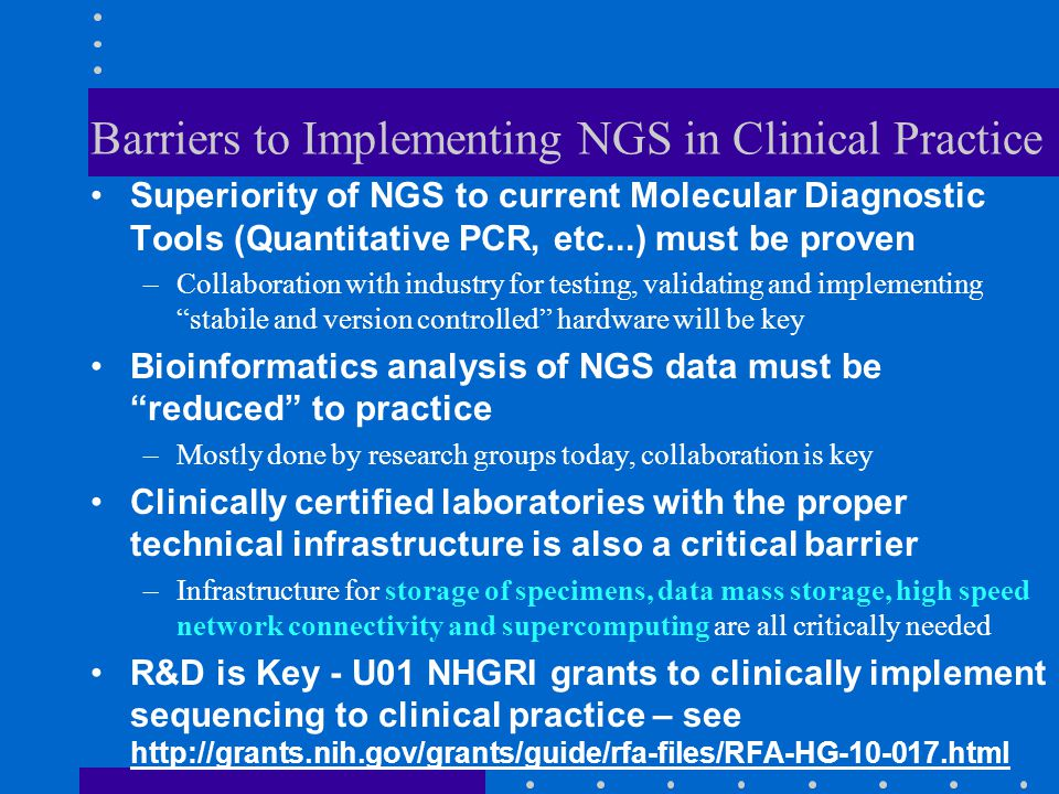 Barriers to Implementing NGS in Clinical Practice