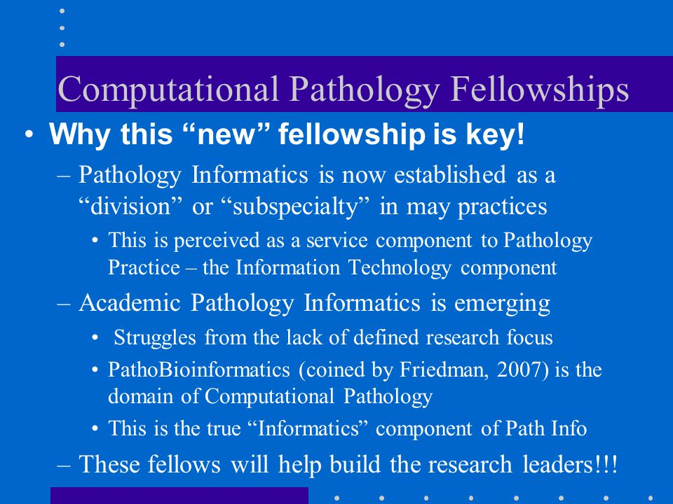 Computational Pathology Fellowships
