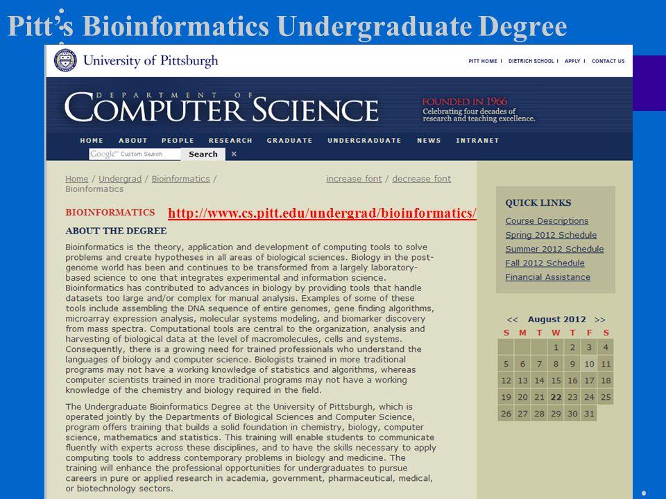Pitt's Bioinformatics Undergraduate Degree