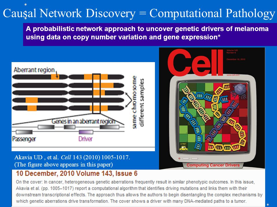 Causal Network Discovery = Computational Pathology