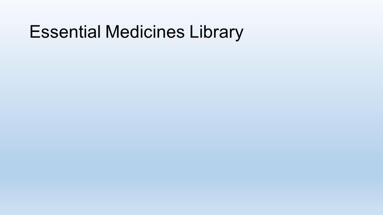 Essential Medicines Library
