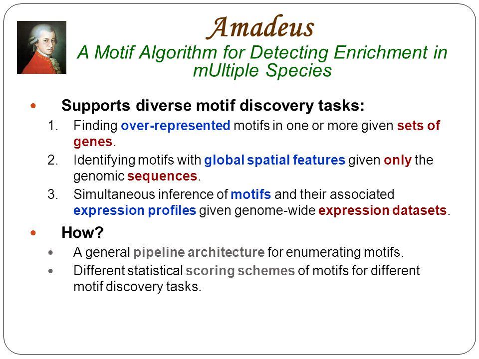 Amadeus A Motif Algorithm for Detecting Enrichment in mUltiple Species