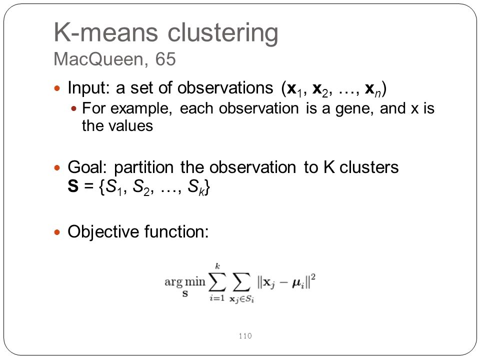 K-means clustering MacQueen, 65